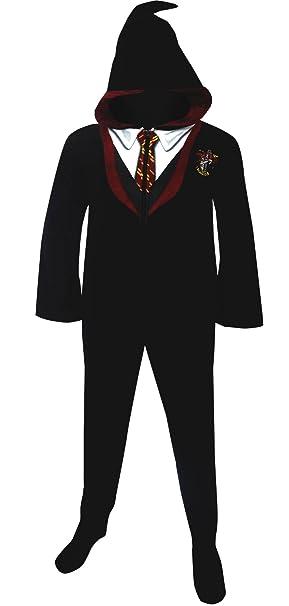 WebUndies.com Harry Potter Gryffindor House uniforme con capucha Footie pijama para hombre