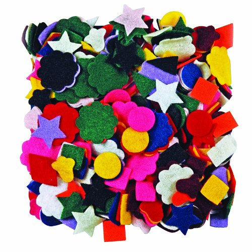 ROYLCO INC. FELT SHAPES 500CT (Set of 12)