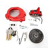 Electric Start Kit Flywheel Starter Motor Key