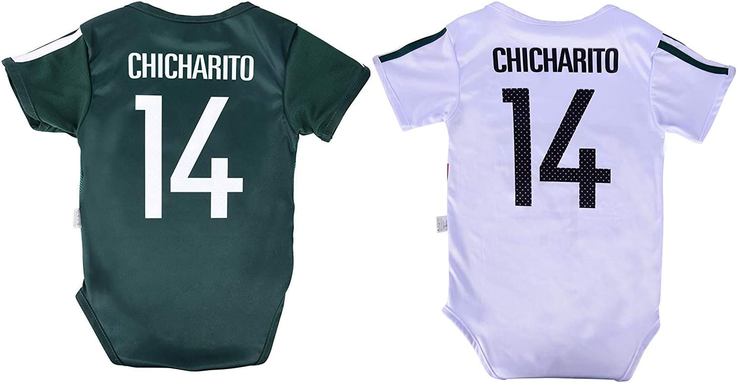 Mexico Youth Jersey Chicharito #14 Kids Home Jersey Shorts Chicharito #14 Drawstring Backpack Bag World Cup Futbol Jersey