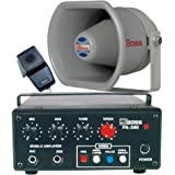 12V DC / 30 Watts RMS 3 Tone Siren PA Amplifier with Microphone & Horn Speaker