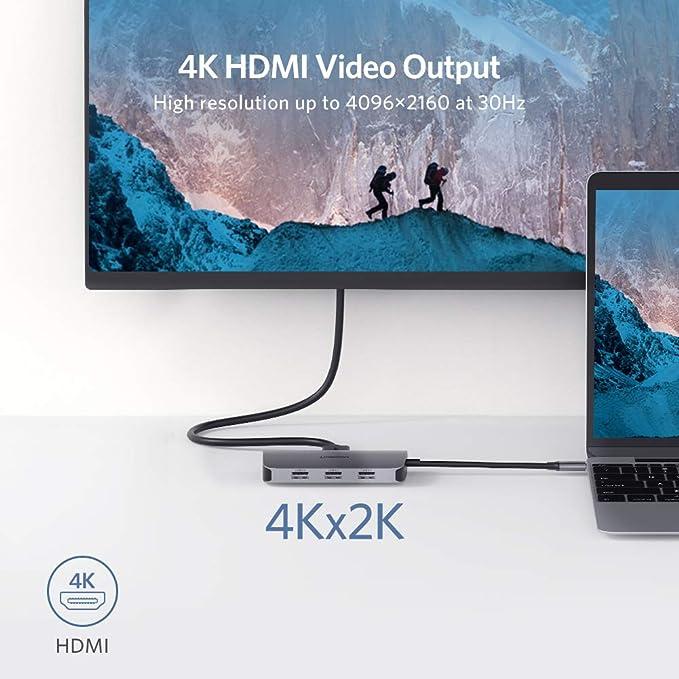 UGREEN USB C Hub, USB Tipo C 3.1 Adaptador a 4K HDMI, Gigabit ...