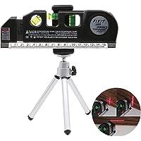 Multifonction Niveaux Laser Vertical Horizon 8 Pieds Mètres à Ruban et Trépied