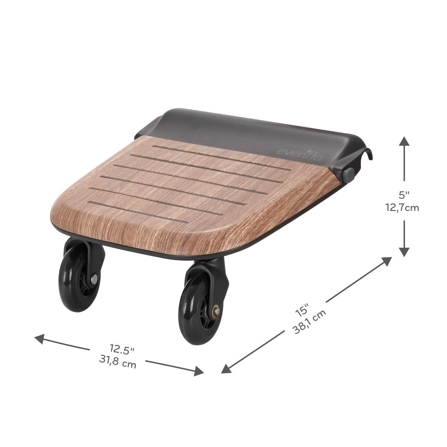 Evenflo Stroller Rider Board, Convenient Riding Options, Non-Skid Surface, Smooth-Ride Wheels, Easy to Use, Holds up to 50 Pounds, No Additional Parts Needed by Evenflo (Image #8)