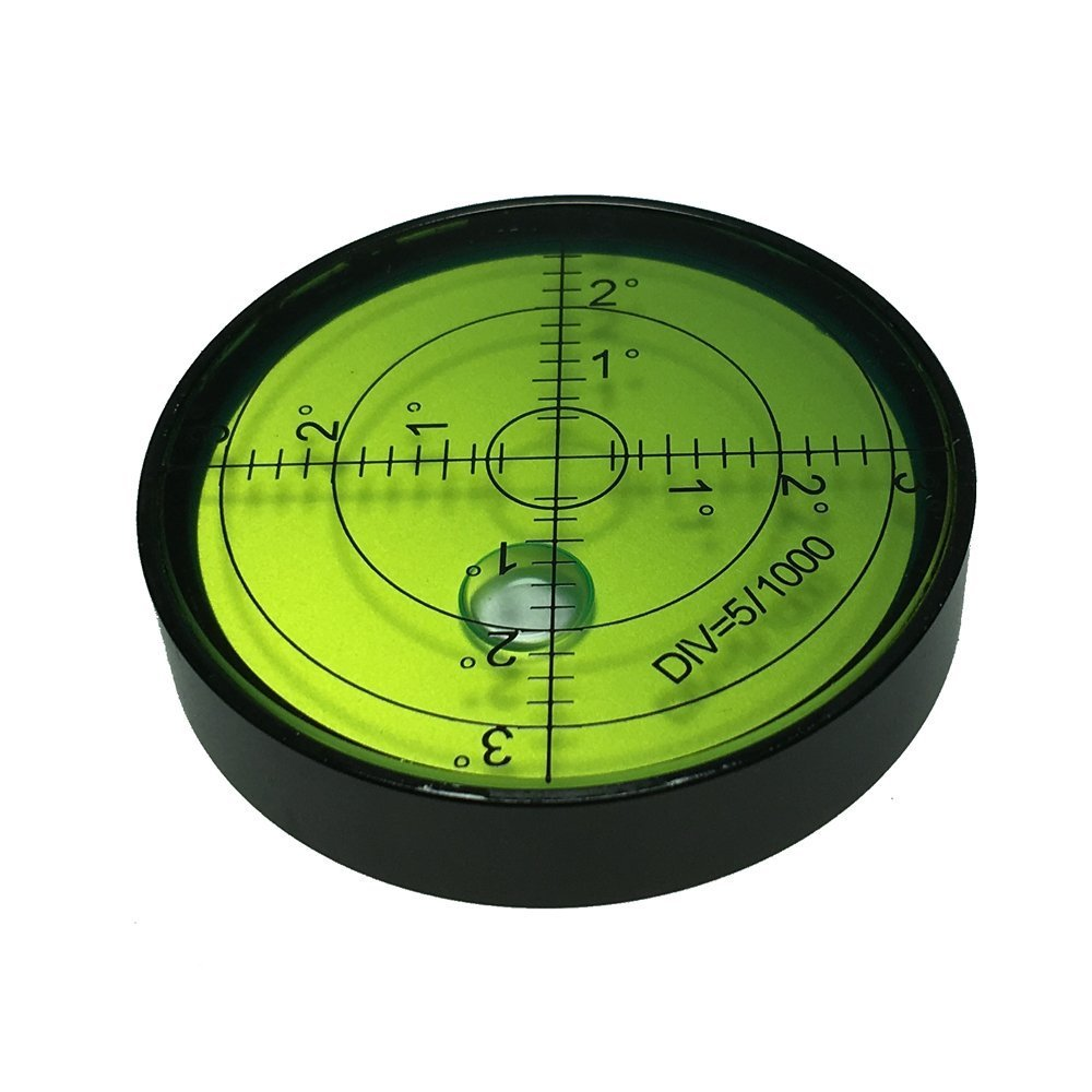 umei High precision horizontal bubble Aluminium Case Bullseye Spirit Bubble Surface Level Round Inclinometers for Surveying Instruments and Tribrachs, 60mm,Accuracy 15'/2