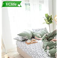 VClife Reversible Cotton Pillow Cases, Set of 2 with Envelope Closure End, Cactus Floral Branches Pattern Reversible, Queen Twin