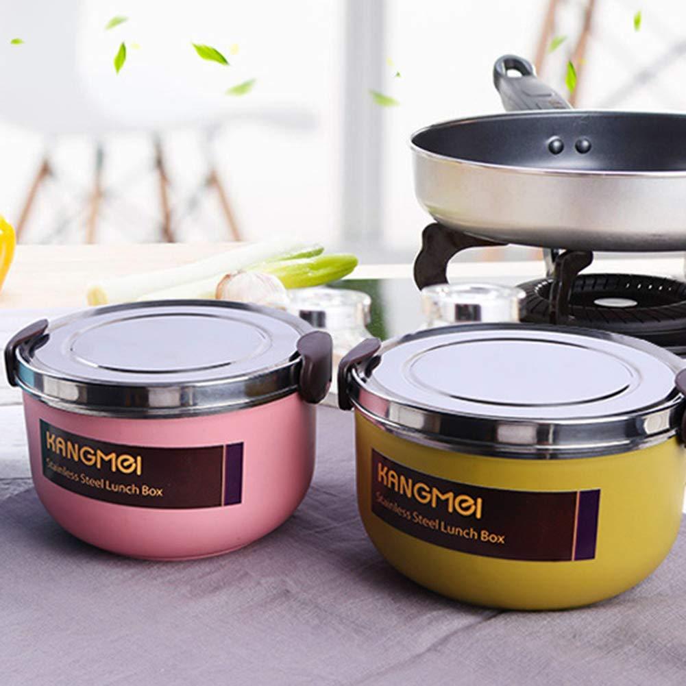 CAheadY Contenitore termico per alimenti a doppio strato portatile 800 ml Pink