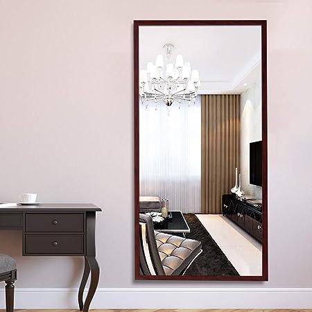 ⛪LDJ Solid Wood Specchio da Pavimento a Specchio Camera da ...