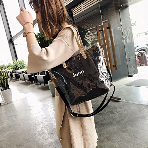 HPASS Beach Summer Body bag For Purse Waterproof bag Cross Black Large Sling Ladies Jelly Clear Bag Transparent PVC rrdvO