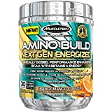 MuscleTech Amino Build Next Gen Energized, Best BCAA Amino Acids Formula with Energy, Orange Mango Cooler, 9.92 oz. (281g)