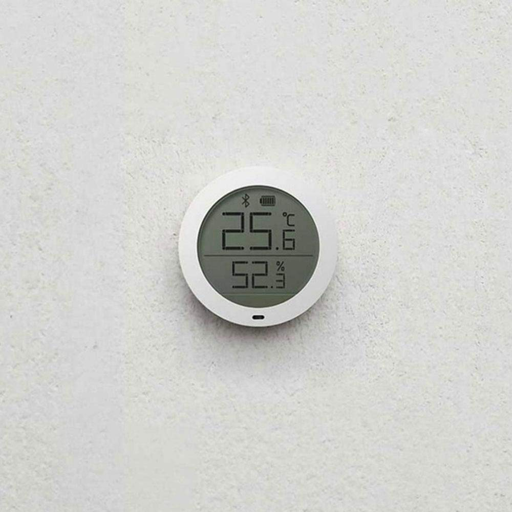 Indoor and Outdoor White JXWStar-EU Digital Hygrometer Indoor Thermometer Bluetooth Wireless APP Control Accurate Temperature Humidity Monitor Meter for Home
