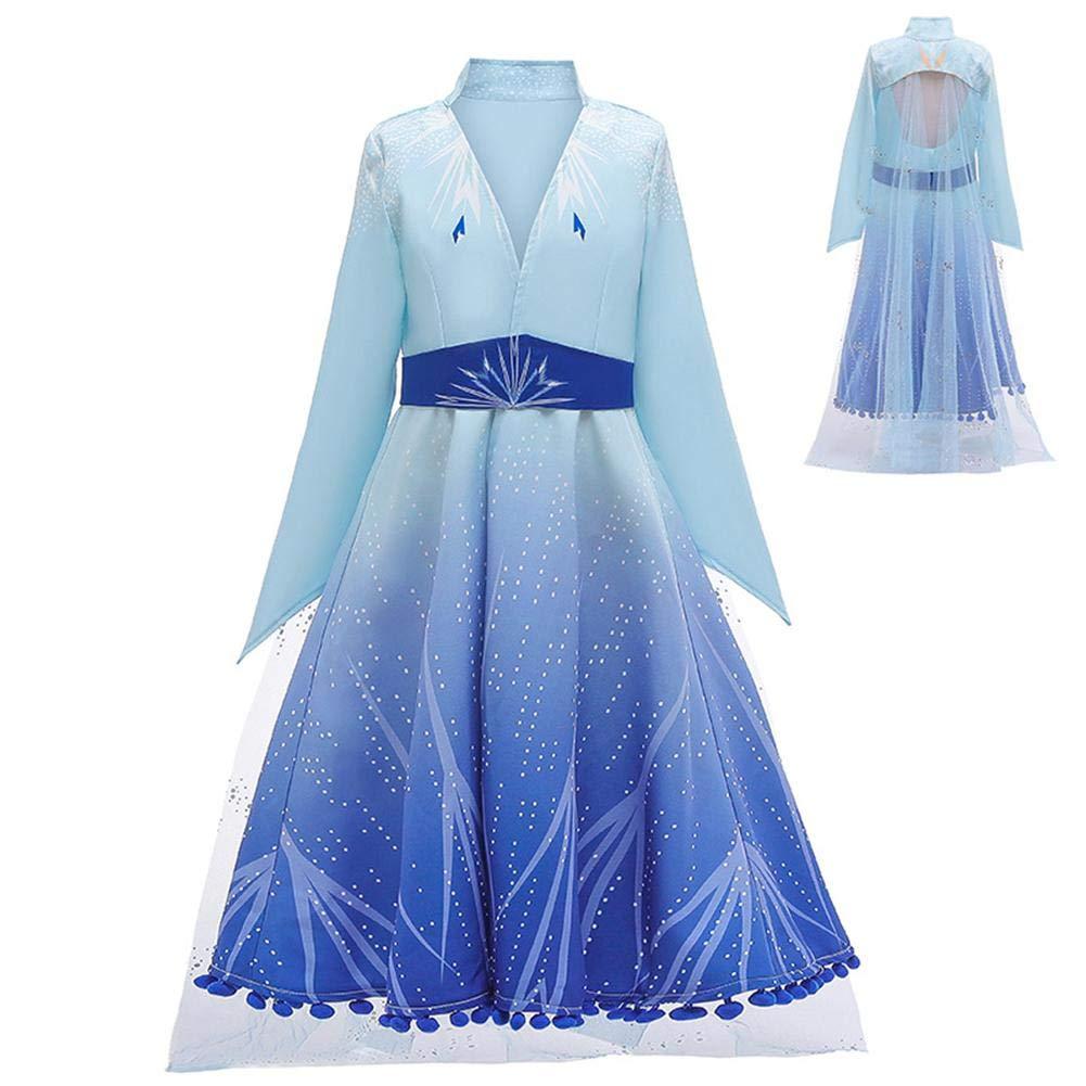 Eternitry Abito Lungo Ragazza Bambini Cosplay Carino alla Moda Costume da Principessa Abbigliamento in Cotone di Alta qualit/à per Frozen 2 Princess Dress