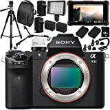 Sony Alpha a7 II Mirrorless Digital Camera with Atomos Ninja Inferno 7 4K HDMI Recording Monitor 15PC Accessory Bundle – Includes Deluxe Backpack + MORE