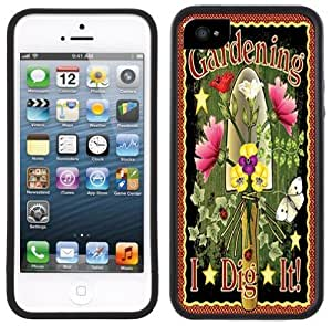 Gardening Handmade iPhone 5 Black Bumper Plastic Case