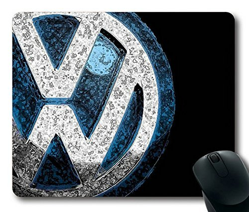 Price comparison product image Popular Mouse Pad with Volkswagen Vw Logo Non-Slip Neoprene Rubber Standard Size 9 Inch(220mm) X 7 Inch(180mm) X 1 / 8 Inch(3mm) Mousepads