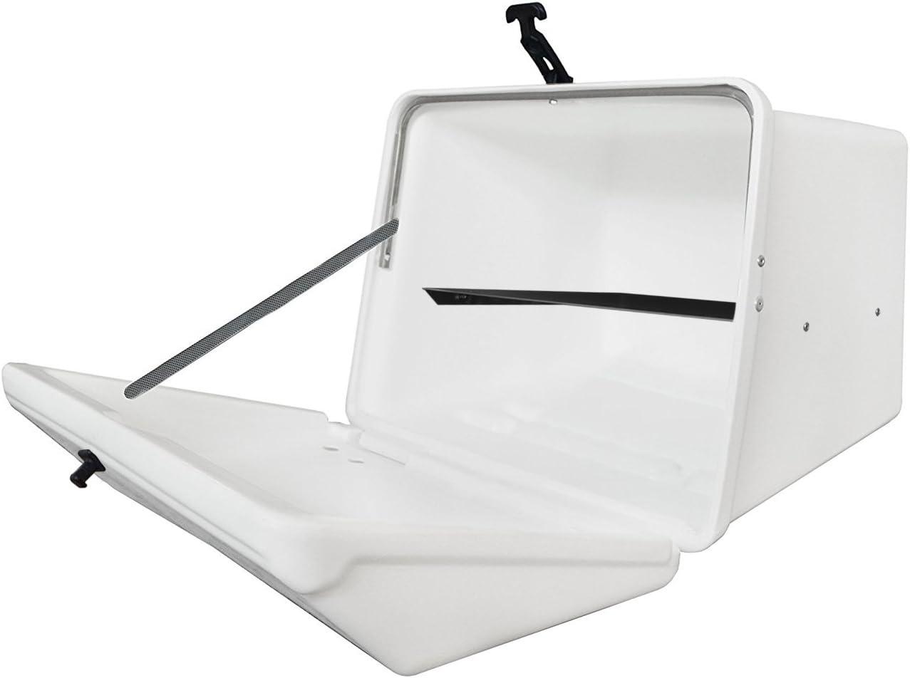 Portaequipajes Moto baúl Reparto Blanco con Bandeja y Reflectantes homologados: Amazon.es: Coche y moto
