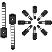 50 Pcs Adjustable Cable Clips,Viaky Self Adhesive Black Wire Clips Cable Management Cable Organizer Wire Holder Clamps - Black