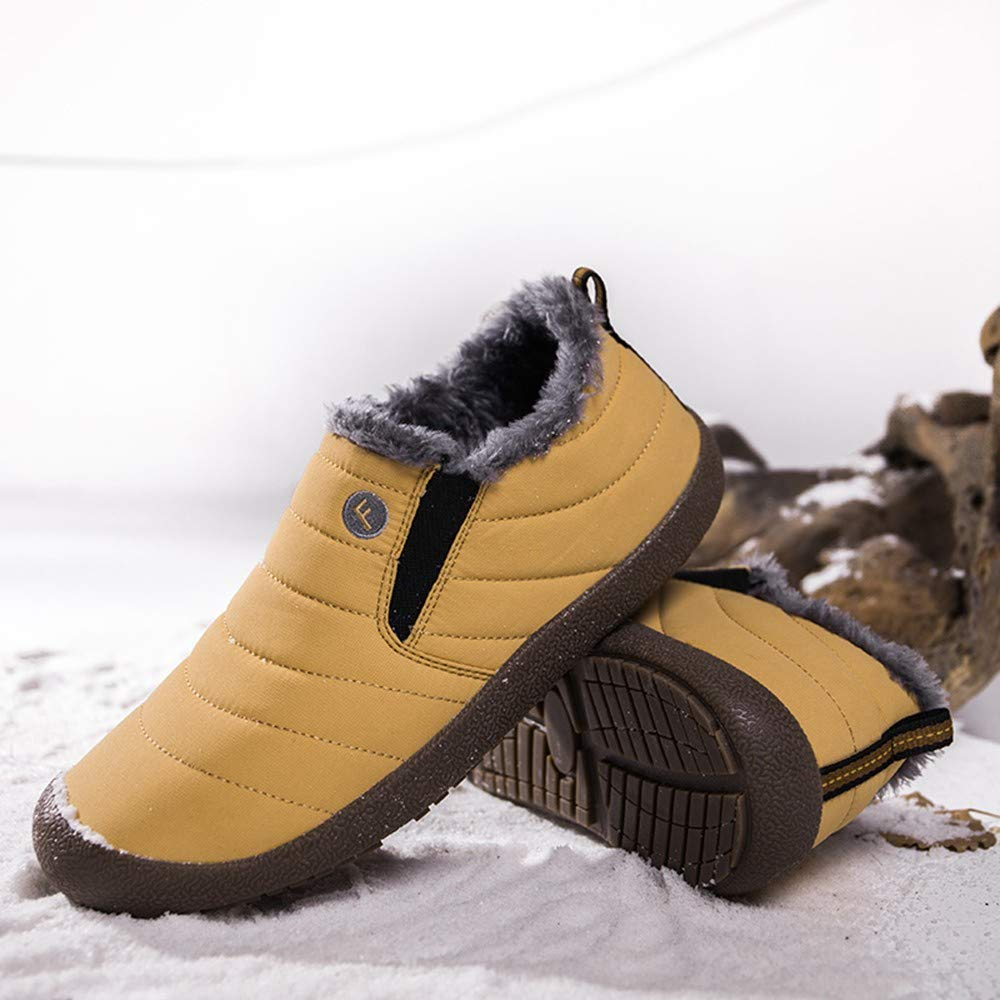 Londony /♥‿/♥ Clearance 2018,Mens Winter Warm Snow Boots Fur Lining Waterproof Thickening Ankle Boots