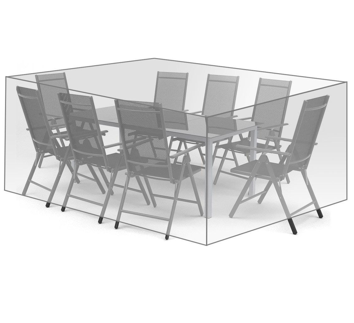 WOLTU® GZ1169tp Coperture per Mobili da Giardino Tavoli Sedie Telo di Copertura Protezione Cover PE 307x136x88 cm