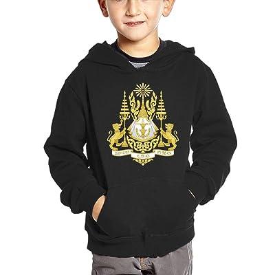 Cambodian National Emblem Hoodies For Kids Hooded Sweatshirt Boys Sweater Girls Pullover