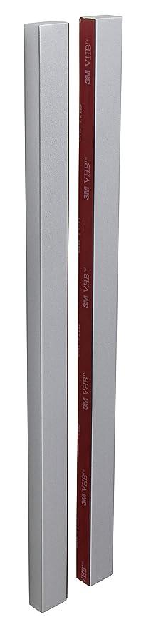Gedotec Design - Tirador para puerta de cristal para pegar (cuadrado, para puertas de cristal, 1 par, adhesivo para puertas correderas y de habitaciones), color plateado: Amazon.es: Bricolaje y herramientas