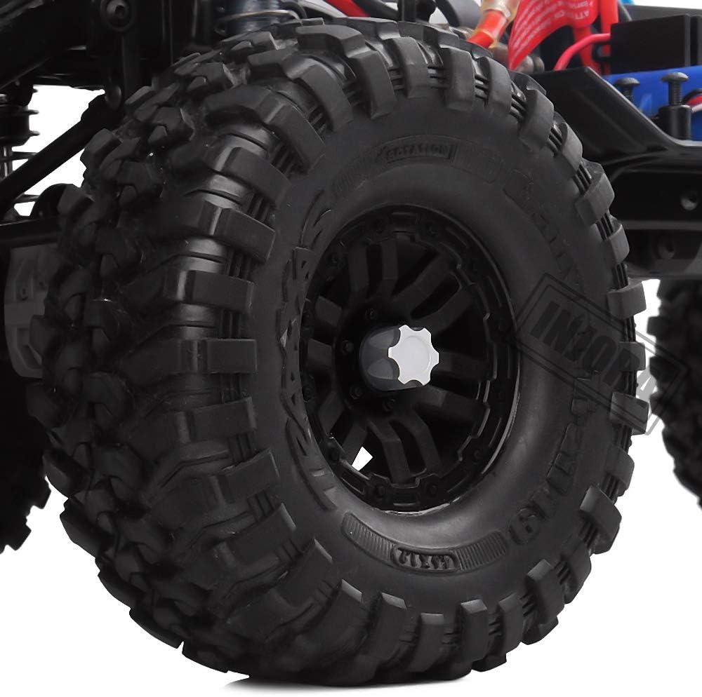 INJORA RC Rueda Nueces 4pcs Metal RC Car Wheel Nuts Cubo de Rueda M4 Nut para 1//10 RC Crawler Traxxas TRX4 Axial SCX10 90046 RC4WD D90 Tamiya MST Rojo