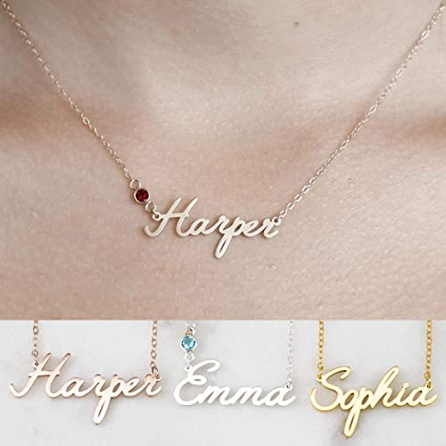 Personalized Jewelry Personalized Necklace,Bridesmaid Gift Necklace Personalized Gift Sterling Silver Name Necklace Dainty Name Necklace