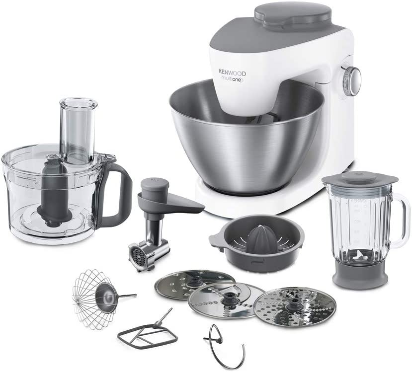Kenwood KHH323WH 1000W 4.3L Gris, Color blanco - Robot de cocina (4,3 L, Gris, Color blanco, Giratorio, 1,5 L, Acero inoxidable, De plástico): Amazon.es: Hogar