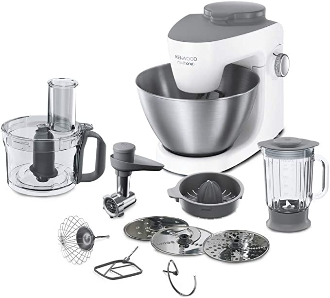 Kenwood KHH323WH 1000W 4.3L Gris, Color blanco - Robot de cocina (4,3 L, Gris, Color blanco, Giratorio, 1,5 L, Acero inoxidable, De plástico): Amazon.es: Hogar