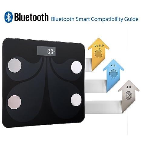 Victoria Bluetooth – Báscula digital con aplicación para peso, grasa corporal, cantidad de agua