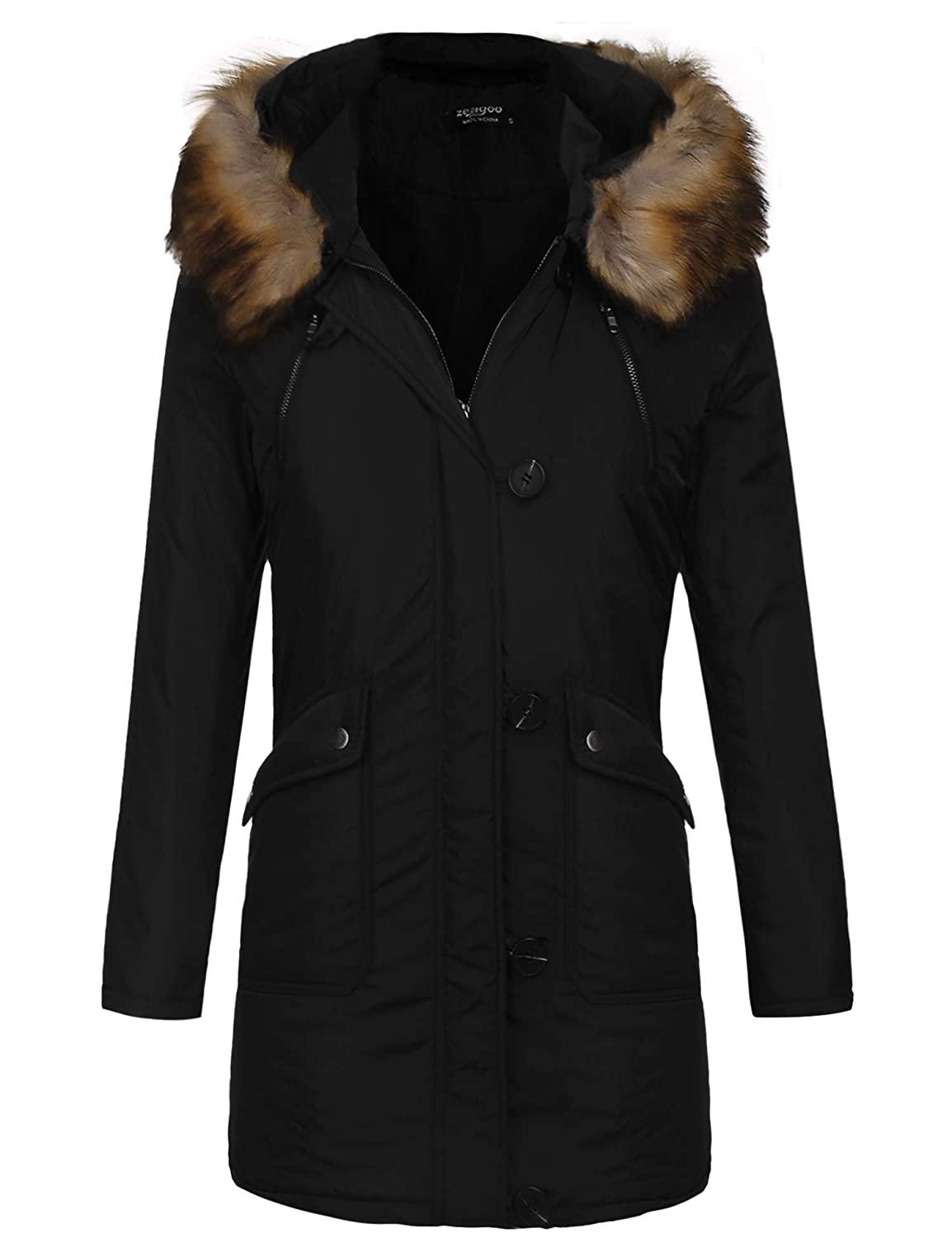 Yhlovg Womens Military Hooded Warm Winter Faux Fur Lined Parkas Anroaks Long Coats