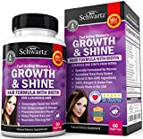 Hair Growth Home Remedy Hair Growth Vitamins with Biotin. Exclusive Hair Growth Product for Women for Longer, Stronger, Silky & Soft Hair. Visible results in 1 Month. Gluten Free Non-GMO Vitamins for Hair Growth Made in USA