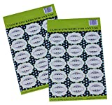Royal Green All-purpose Labels with Decorative Border, 30-Pack-Blank