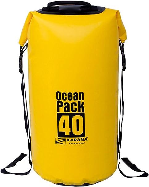 OriginalFromThailand Karana Ocean Pack Impermeable seco Bolsa 40 litros (112064740), Amarillo Color 1 pcs.: Amazon.es: Deportes y aire libre