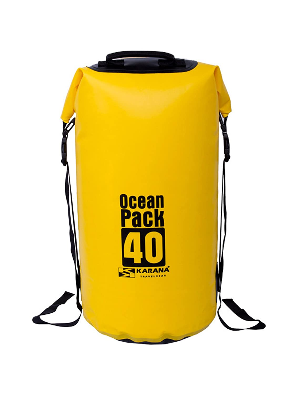 Karana Ocean Pack防水ドライバッグ40リットル( 112064740 )、イエロー1個。 B01F7J50Q2