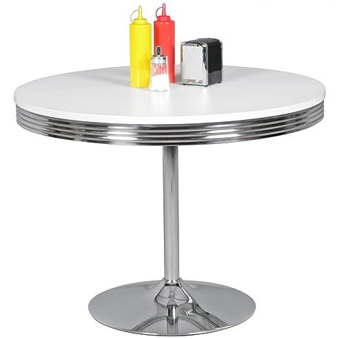 Beautiful FineBuy PAUL   American Diner Esstisch 120 X 76 X 80 Cm Aus MDF/Aluminium