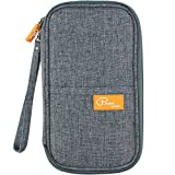 BUENAVO RFID Travel Passport Wallet & Documents Organizer, Waterproof Roomy Family Passports Holder Travel Accessories for Best Journey (Grey)