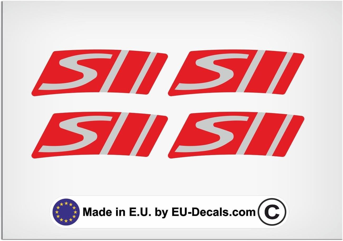 Eu Decals Miovespa Collection 2018 Style 4x Felgenrandaufkleber S Rot Auf Grau Für Vespa Gts 300 Super Sport Aufkleber Laminiert Auto