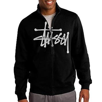 Jacob sudadera para hombre Stussy sudadera con capucha y cremallera completa para hombre Chaqueta color negro: Amazon.es: Deportes y aire libre