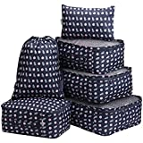 LANGRIA Foldable Packing Cubes Set for Travel Luggage Suitcase Bag Organizers for Underwear Shirts Trousers Toiletry for Business Trips Backpackers Adults and Kids