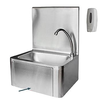 Waschbecken Edelstahl waschbecken edelstahl mit kniebedienung industrie handwaschbecken