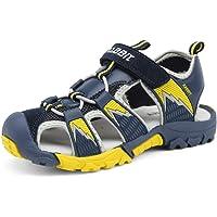 katliu Closed Toe Boys Sandals Summer Outdoor Sports Beach Walking Hiking Childrens Shoes (Toddler/Little/Big Kids)