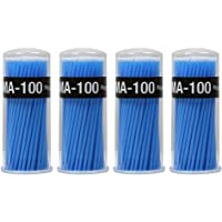 Shintop 400pcs Disposable Micro Applicators Brushes Great for Dental/Oral/Makeup (Blue, 2.5mm)