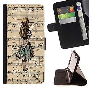 King Case - FOR Sony Xperia Z2 D6502 - If you doubt yourself - Prima caja de la PU billetera de cuero con ranuras para tarjetas, efectivo Compartimiento desmontable y correa para la mu?eca