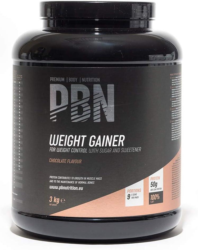 PBN - Premium Body Nutrition PBN - Bote de ganador de peso, 3 kg (sabor chocolate)