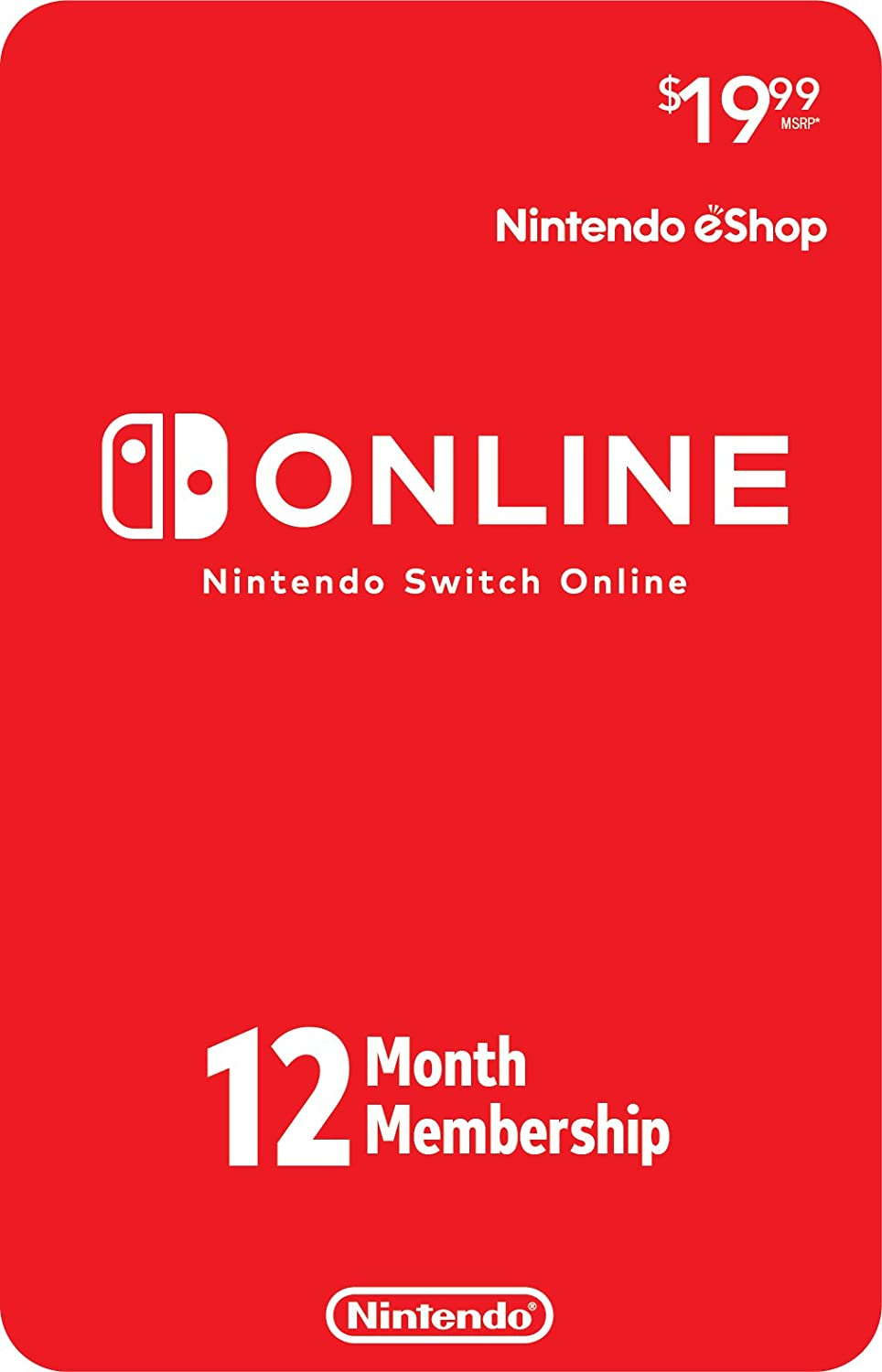 Amazon.com: Nintendo Switch Online 12-Month Individual ...