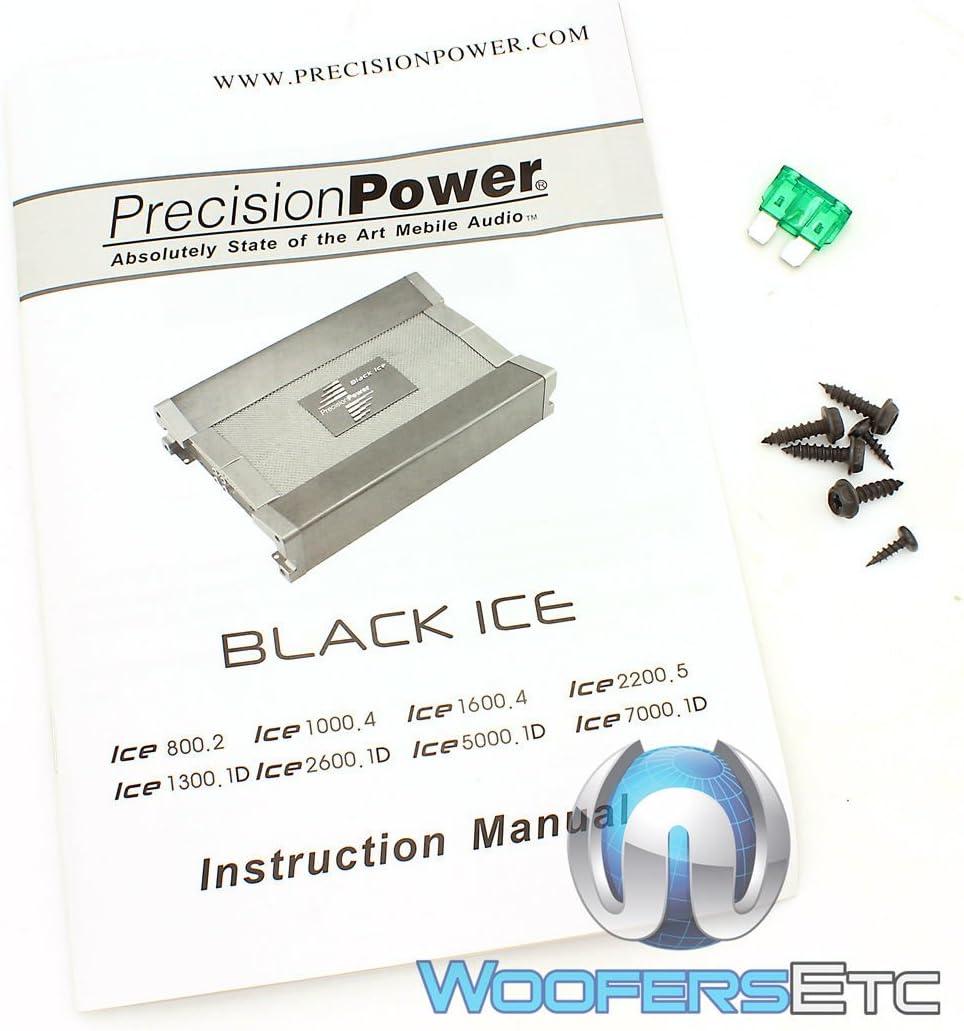 Precision Power ICE7000.1D 7000 Watts Monoblock Class D Subwoofer Amplifier New