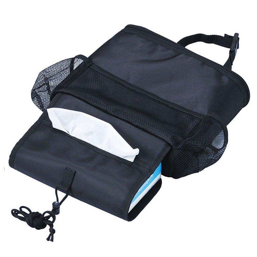 Heat-Preservation KAFEEK Car Seat Organizer//Auto Seat Back Organizer//Multi-Pocket Travel Storage Bag//Insulated Car Seat Back Drinks Holder Cooler//Storage Bag Cool Wrap Bottle Bag with Mesh Pockets