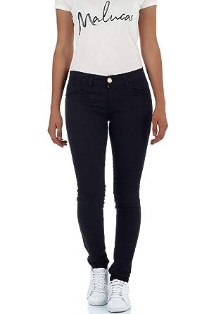Malucas Damen Skinny Jeans mit Tiefem Bund Hose Stretch