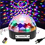 Disco Ball Party Lights - SOLMORE 9 Color LED Disco Stage DJ Lights Strobe Rotating Projector Light Sound Activated with Remote MP3 Play colorful Lighting for Wedding Party Room KTV Bar Parties Show from SOLMORE